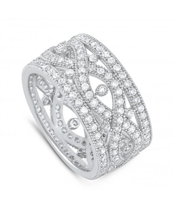 Sterling Simulated Diamond Infinity Statement