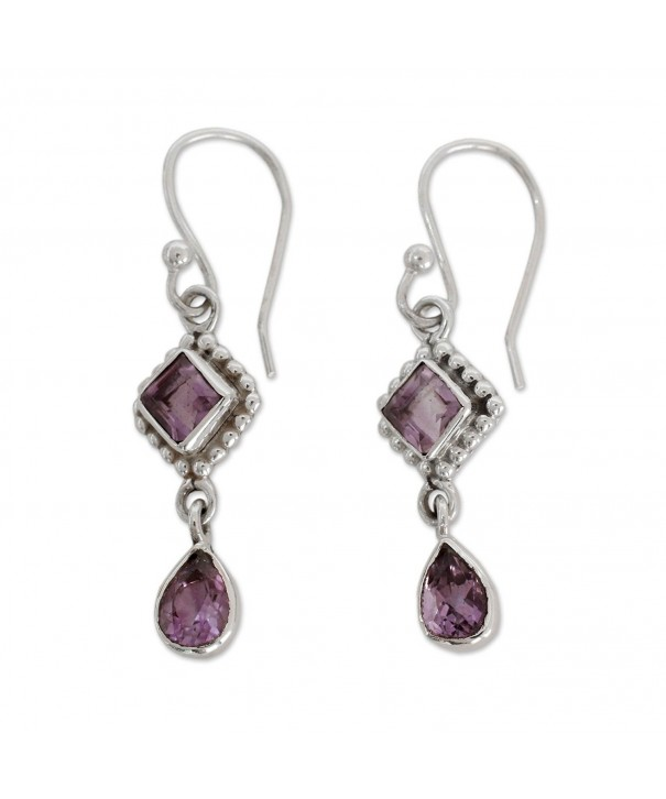 NOVICA Amethyst Sterling Silver Earrings