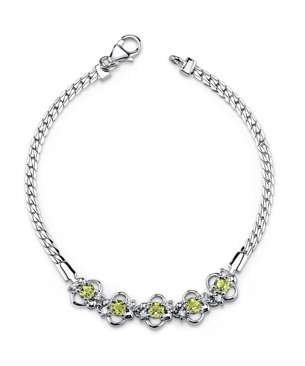 Peridot Bracelet Sterling Silver Accent