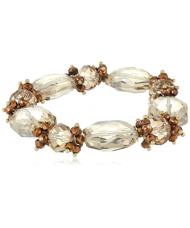 1928 Jewelry Gold Tone Faceted Bracelet