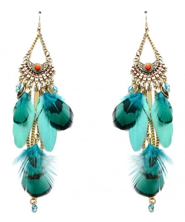 Lovelychica Bohemian Rhinestone Pendants Earrings