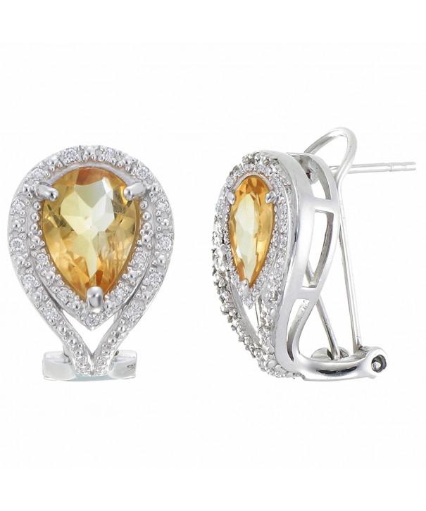 Sterling Silver Citrine Earrings CT