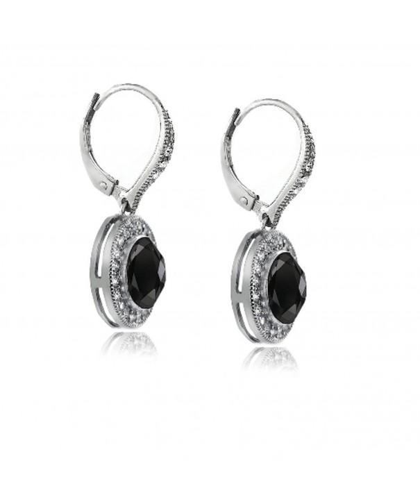 Bria Lou Leverback Earrings Swarovski