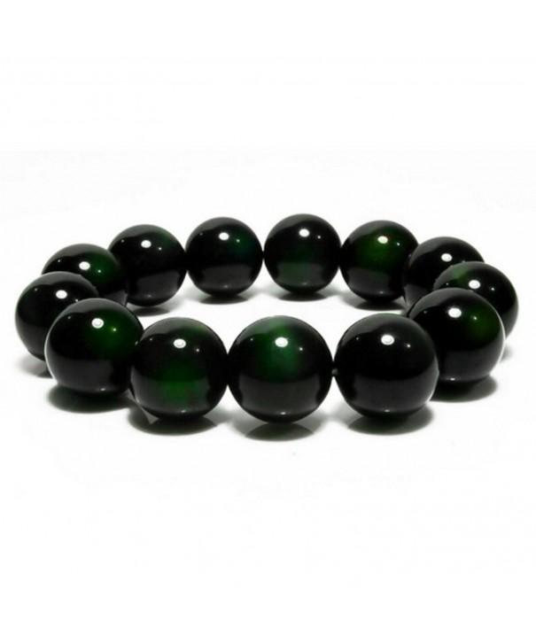 Merdia Obsidian Bracelet Green Jewelry