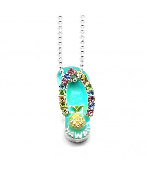 Hawaii Tropical Sparkling Pineapple Necklace