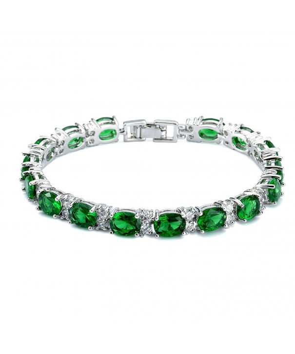 SELOVO Formal Bracelet Emerald Zirconia