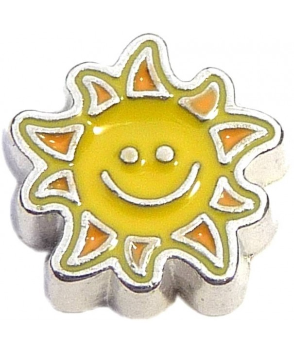 Sunshine Smile Floating Locket Charm