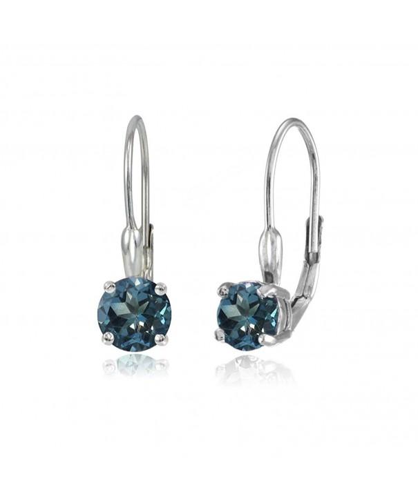 Sterling Silver London Leverback Earrings