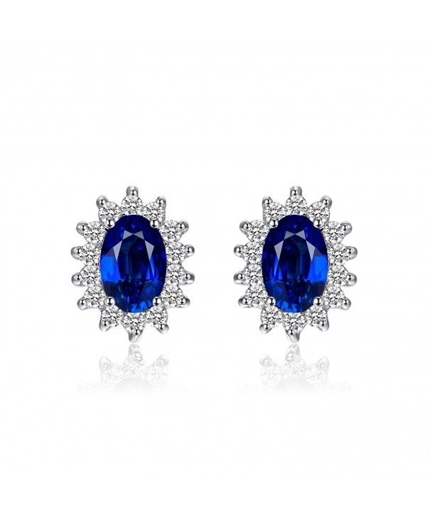 JewelryPalace Princess Middletons Sapphire Earrings