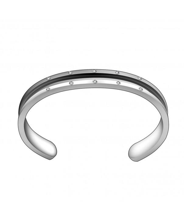ZUOBAO Stainless Bracelet Zirconia Silver