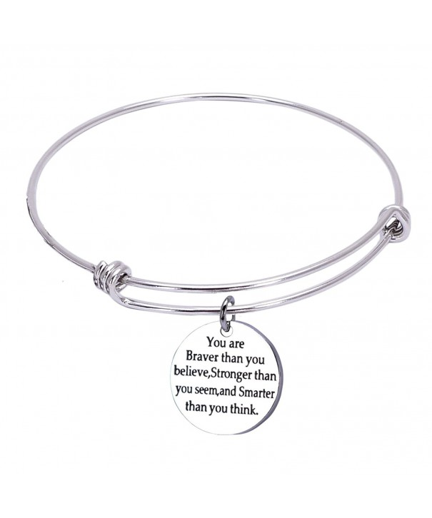 Inspirational Bracelets Stronger Stainless Adjustable