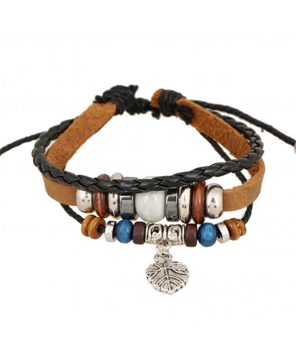 OVERMAL Beaded Braided Adjustable Bracelet