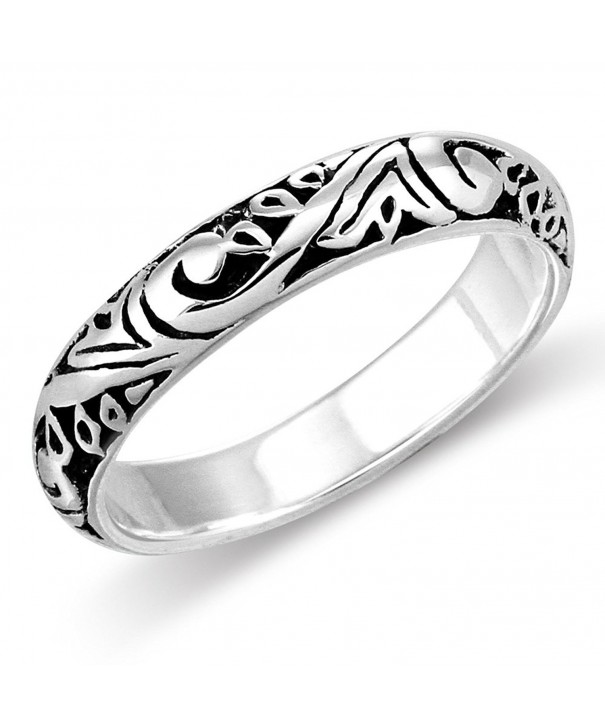 Sterling Silver Elegant Filigree Everyday