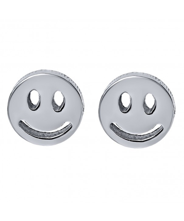 Catching Stainless Steel Smiley Earrings