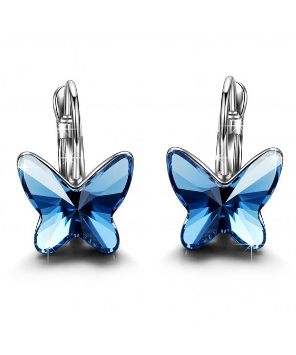 Earrings Fashion Butterfly Swarovski Elements