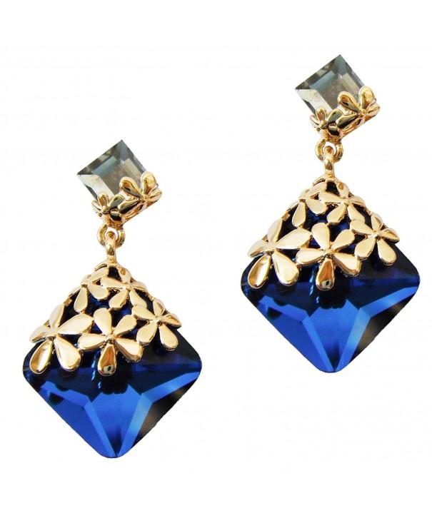 Navachi Plated Crystal Az2872e Earrings