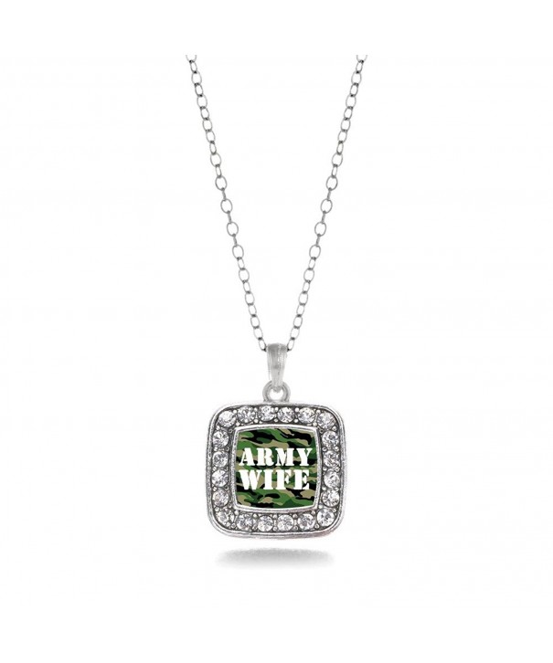 Soldier Classic Silver Crystal Necklace