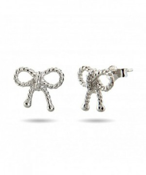 Sterling Silver Twisted Bow Earrings