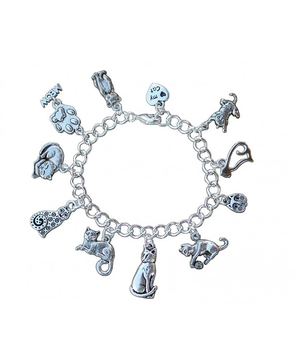 Silver Plated Love Charm Bracelet