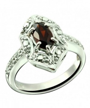 Sterling GENUINE GEMSTONE Marquise Rhodium Plated