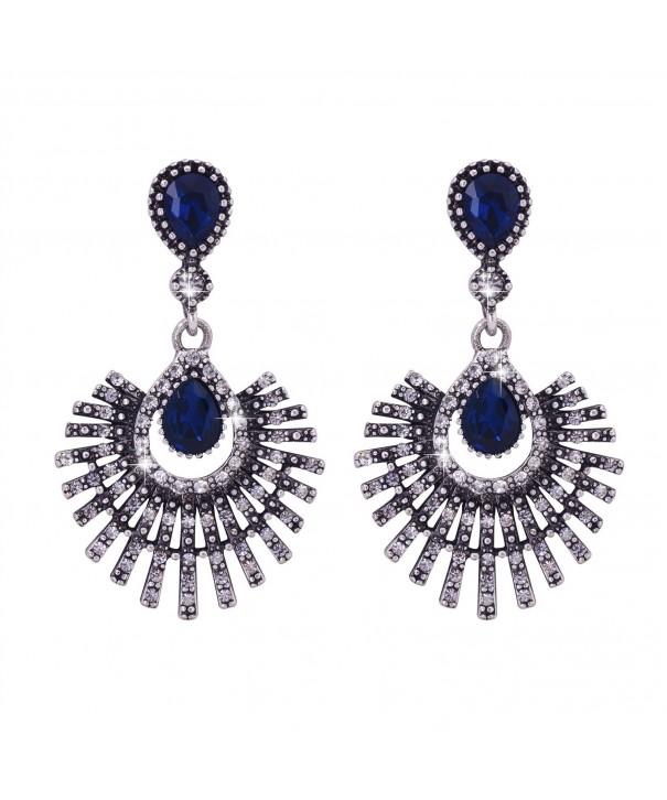 Omnichic Sapphire Statement Earrings Birtyday