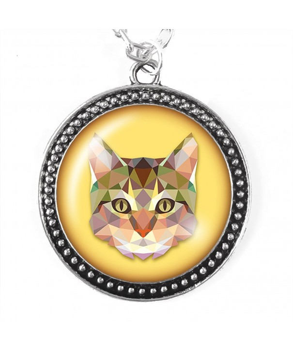 Sparkle NECK ABSTCAT MERCH Abstract Cat Necklace