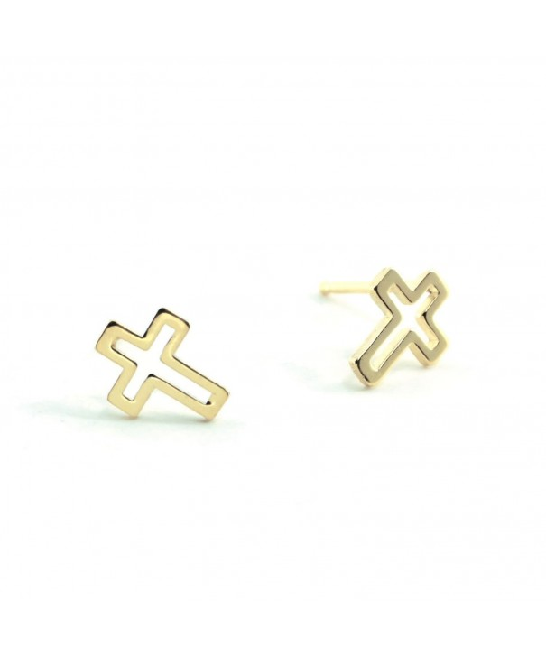 Sterling Silver CROSS OUTLINE Earring