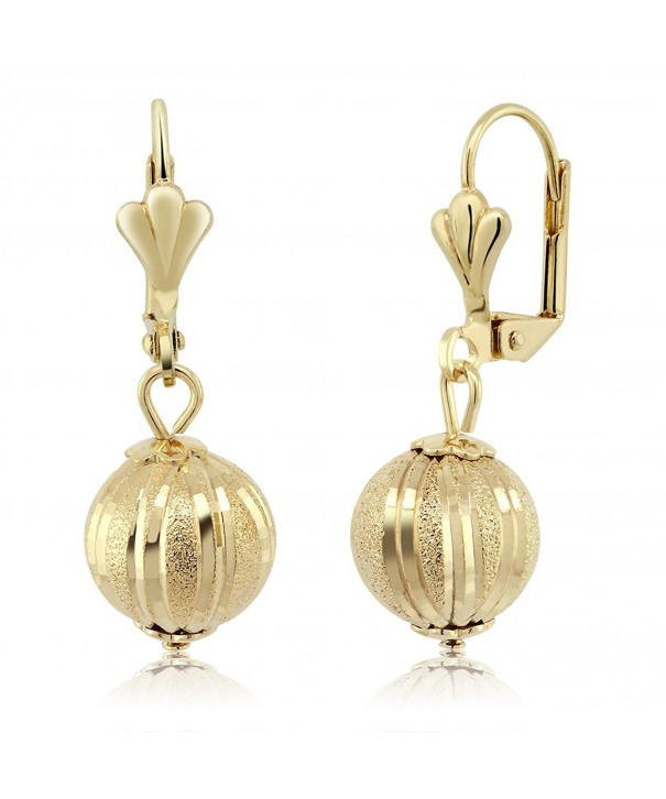 Stunning Dangle Spheres Lever Back Earrings