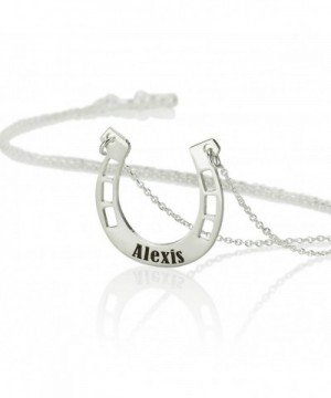Personalized Horseshoe Necklace Sterling Silver