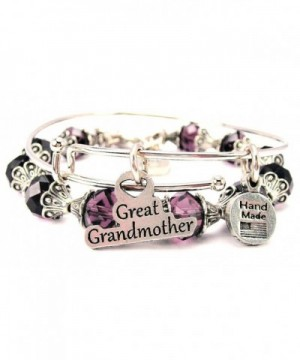 Grandmother Collection Crystal Bangle Purple