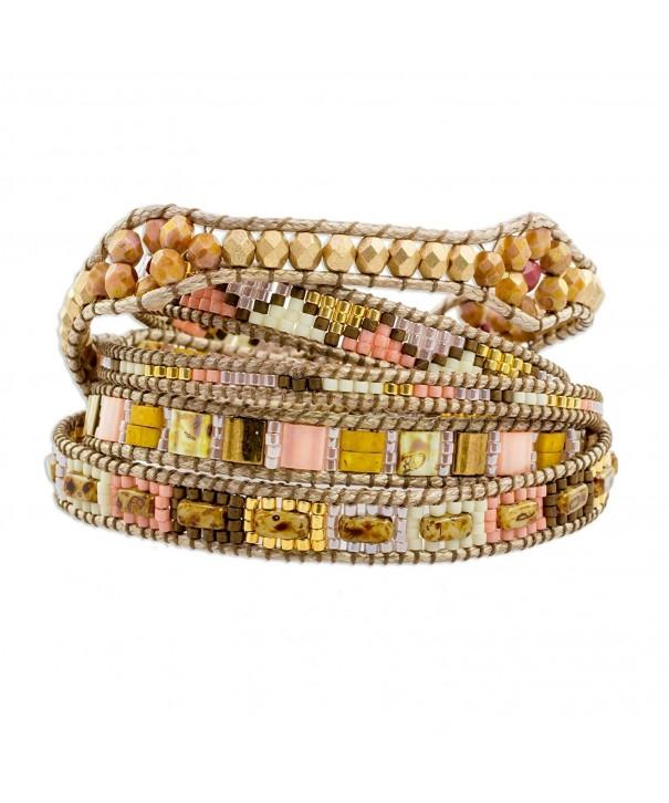 NOVICA Beaded Bracelet Country Colors