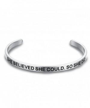 LAVUMO Believed Could Bracelet Inspirational
