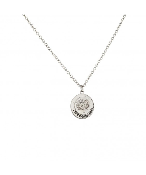 Lux Accessories Cirlce Pendant Necklace