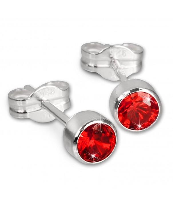 SilberDream earring Zirconia Sterling SDO503R