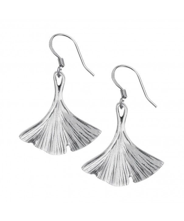 Danforth Ginkgo Leaf Pewter Earrings