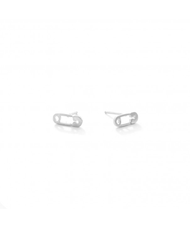 Sterling Silver Safety Stud Earrings