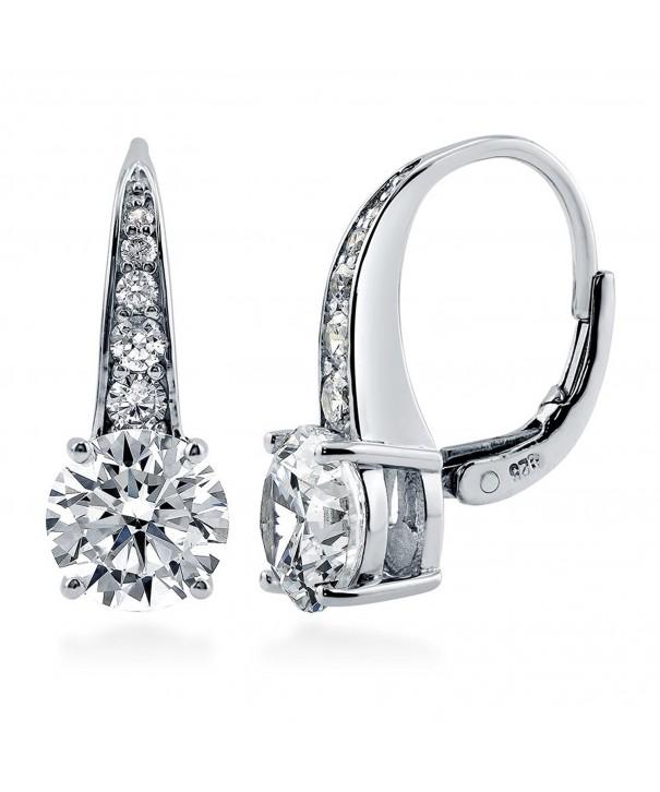 BERRICLE Sterling Zirconia Leverback Earrings