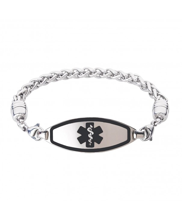 Divoti Engraved Contempo Stainless Chain Black