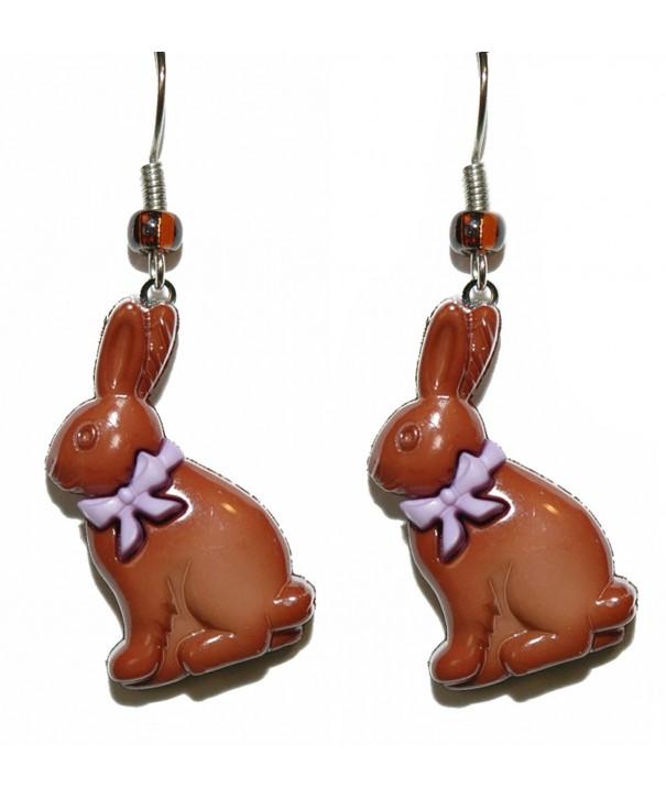 Chocolate Easter Dangle Earrings H139a2