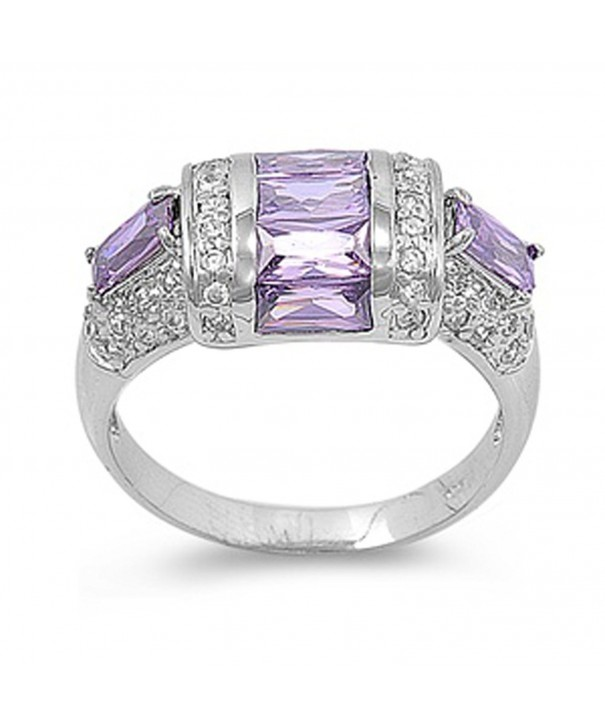 Simulated Amethyst Wholesale Sterling Silver