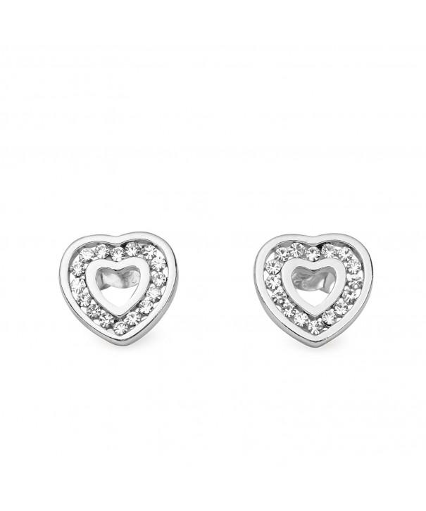 Sterling Silver Rhinestone Crystal Earring