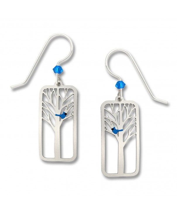 Blue Bird Earrings Sterling Silver