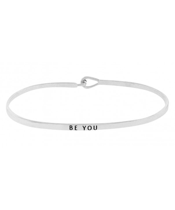 Inspirational Silver Positive Message Bracelet