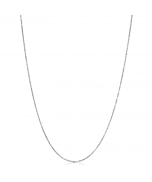 BERRICLE Italian Rhodium Sterling Necklace