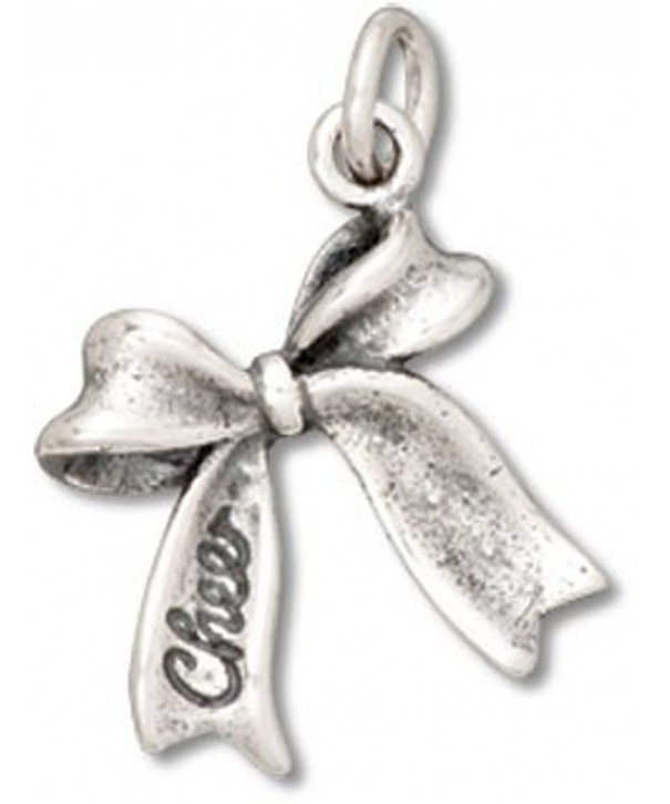 Sterling Silver CHEER Ribbon Sports