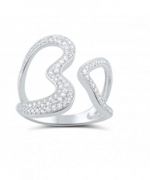 Sterling Silver Simulated Diamond Statement