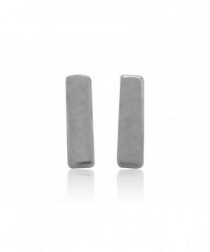 Sterling Silver Geometric Earrings 7x1 5mm