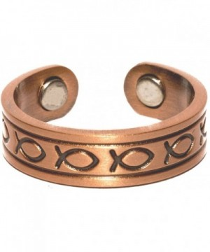 Copper Fish Magnetic Therapy Ring