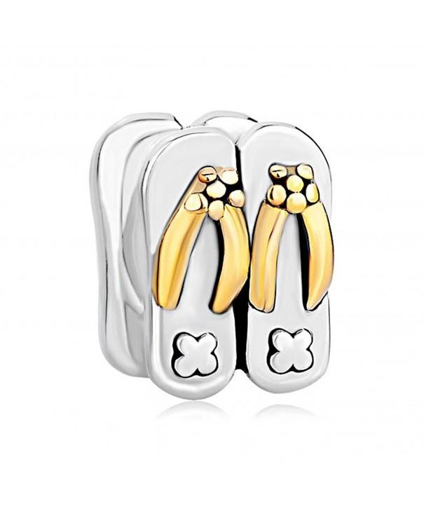 LovelyJewelry Sterling Silver Slippers Bracelet