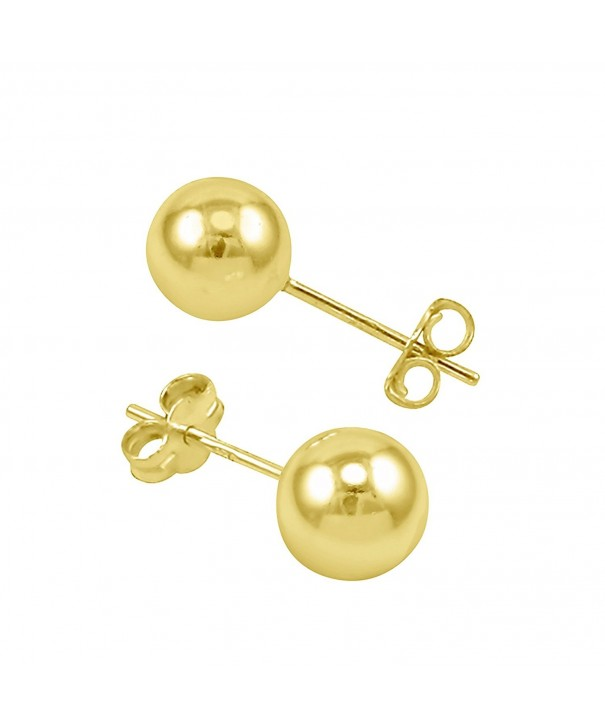 High Polished Yellow Earrings Butterfly
